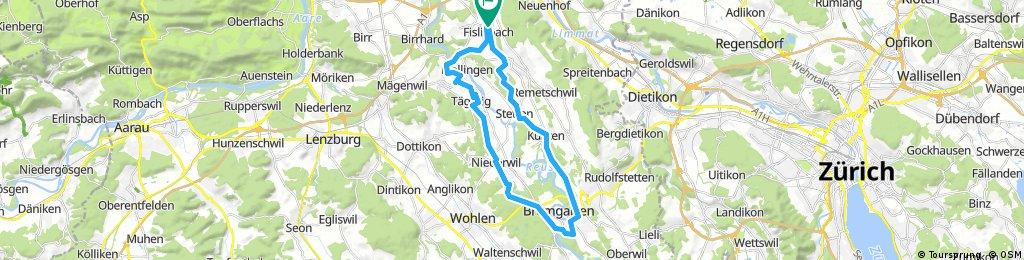 Fislisbach-Bremgarten-Figö-Mellingen-Fislisbach