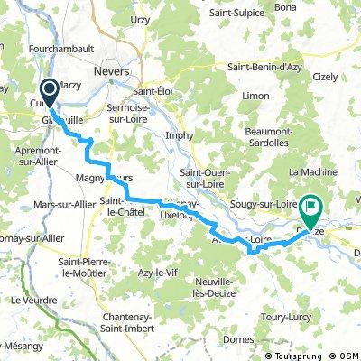 LA LOIRE : CUFFY-MAGNY COURS-DECIZE = 46 KM