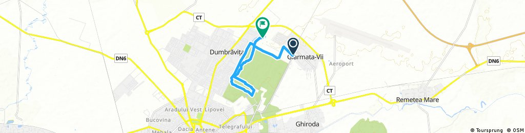 ride through Dumbrăvița