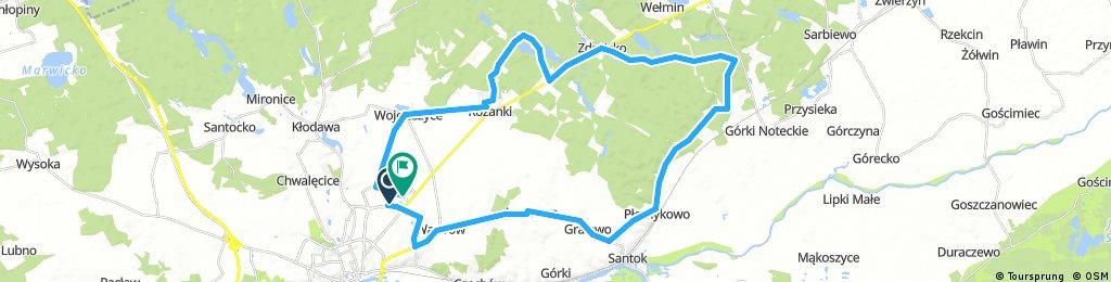 Long bike tour through Gorzów Wielkopolski