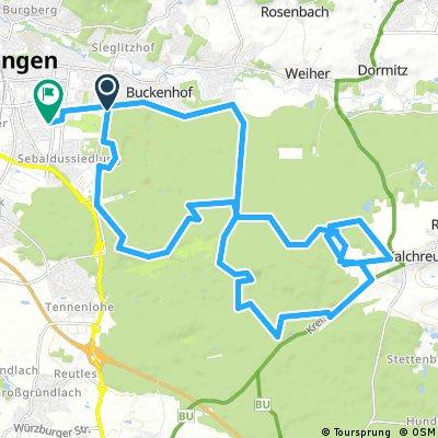 MTB Erlangen to Kalchreute
