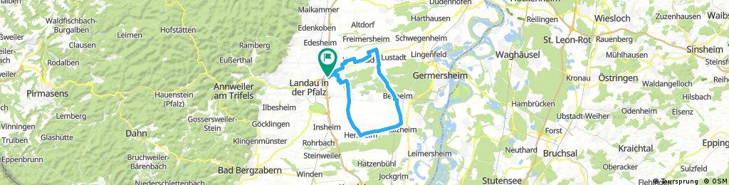 Lange Radrunde durch Landau in der Pfalz