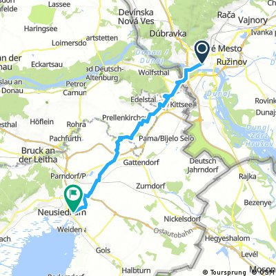 Long ride from Bratislava to Neusiedl am See