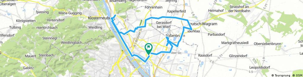 Lange Radrunde durch Wien