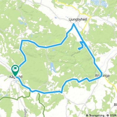 Long bike tour through Kågeröd