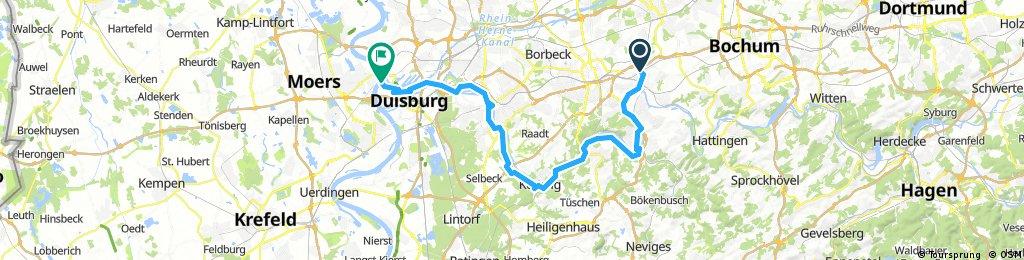 Tour von Essen nach Duisburg Rhurorange 28.05.2017