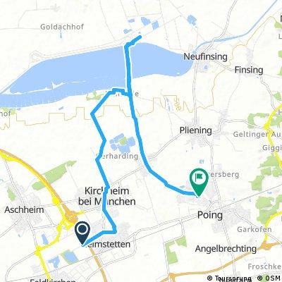Ausfahrt von Kirchheim bei München nach Poing