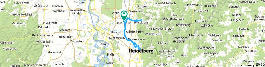 Lange Ausfahrt durch Heddesheim