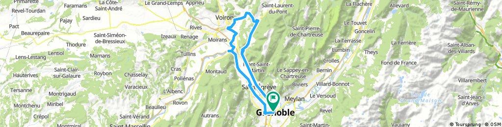 col de la Placette depuis Grenoble
