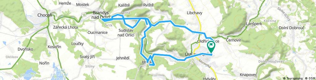 bike tour through Ústí nad Orlicí