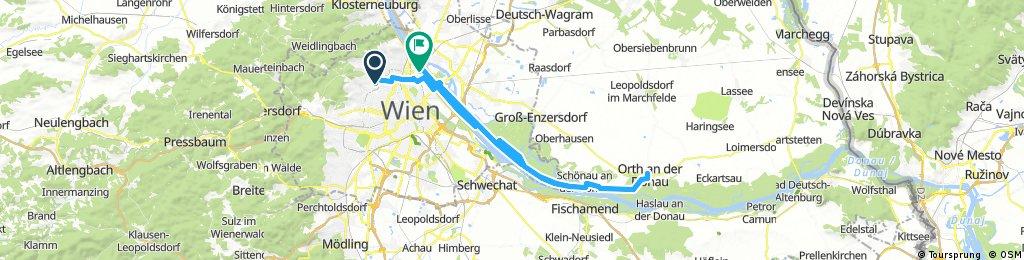 Lange Ausfahrt durch Wien