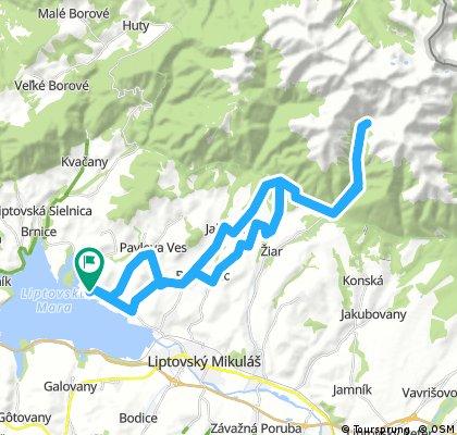 Liptovsky Trnovec to Ziarska Chata and return