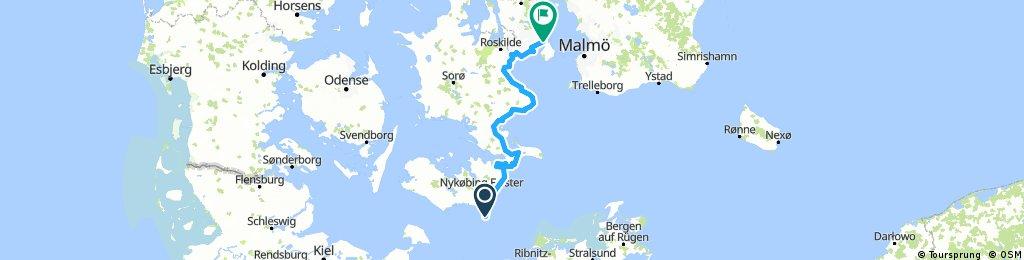 Radweg Berlin–Kopenhagen - Dänischer Abschnitt