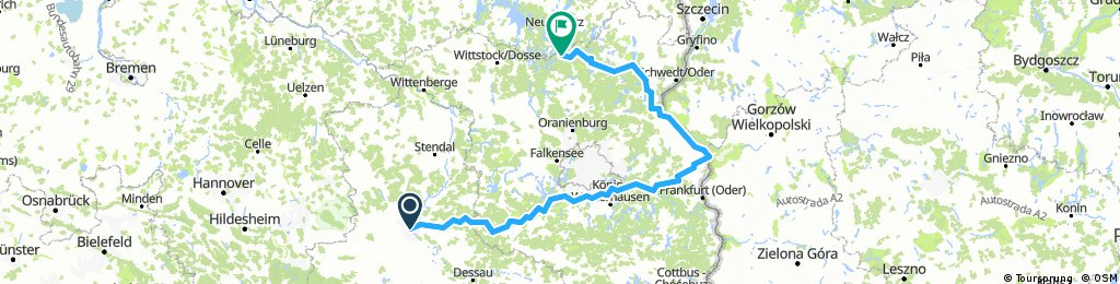 Magdeburg-Ludwigsfelde-Fürstenwalde-Küstriner Vorland-Oderberg-Fürstenberg