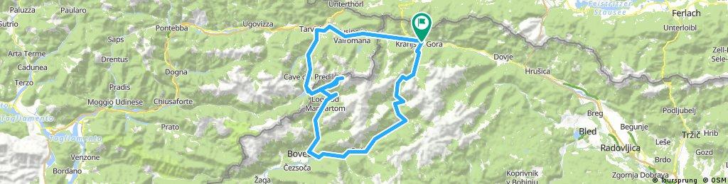 Kranjska Gora - Vrsic hágó - Soca - Kal Koritnica - Mangart út - Cave del Predil - Tarvisio - Kranjska Gora
