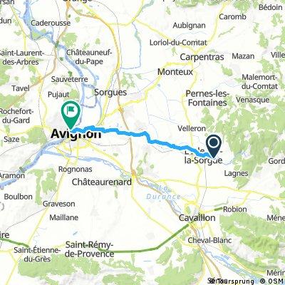 6. den Odpocinek Avignon
