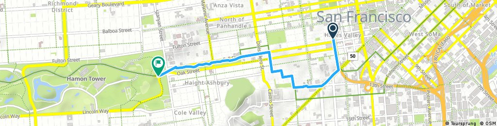 CityRide Hayes Valley to Golden Gate Park
