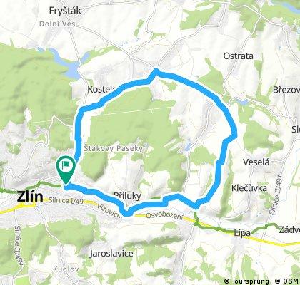 ride through Zlín