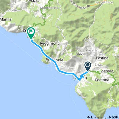 Cycling Routes And Bike Maps In And Around Levanto Bikemap Your