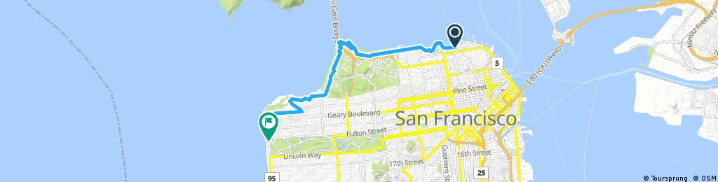 CityRide Fisherman's Wharf to Ocean Beach / Golden Gate Park