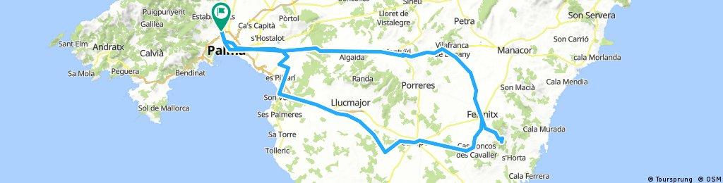 Santueri por Villafranca, vuelta por Son Xorc y Son Marrano