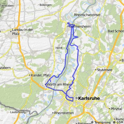 Karlsruhe Bike routes I Overview of the best cycle routes Bikemap