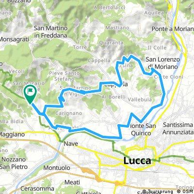 bike tour through Lucca