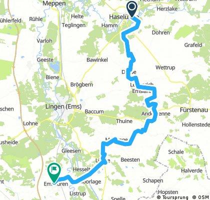 Tag 02 63km - OK - Haselünne Lengerich Freren Messingen Lünne Emsbüren