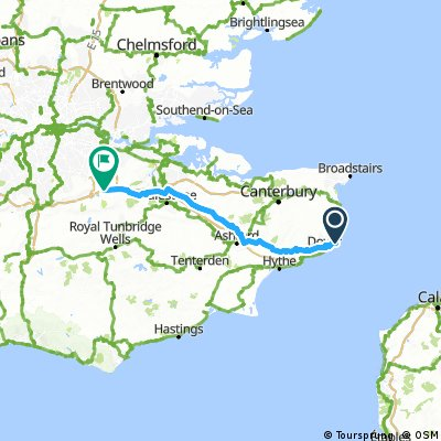 Day 1 Dover to Kemsing