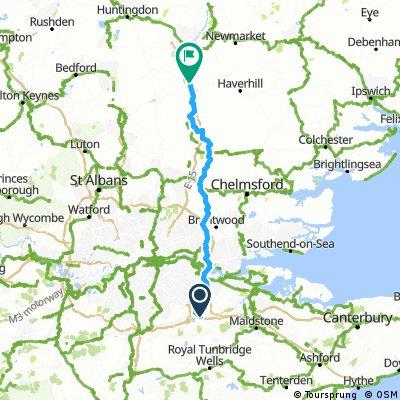 Day 2 Kemsing to Duxford