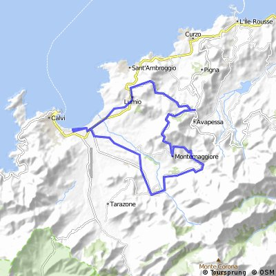 Cycling routes and bike maps in and around Calvi Bikemap Your