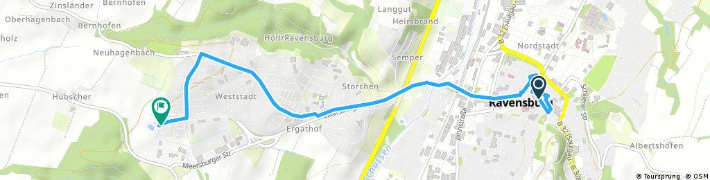 Schnelle Ausfahrt durch Ravensburg