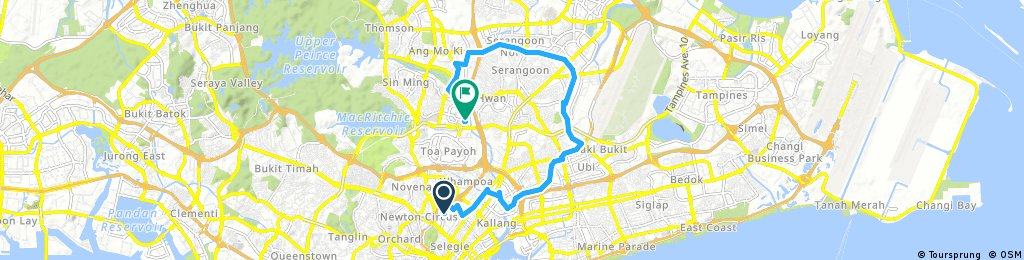 ride through Little India to Bishan