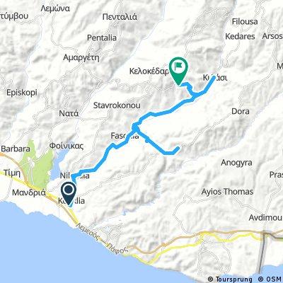 Day 2 - Kouklia to Trachypedoula