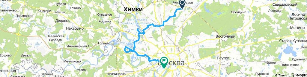 Медведково - Головинское - Покровское-Глебово - Серебряный Бор - Красная Пресня - Яндекс