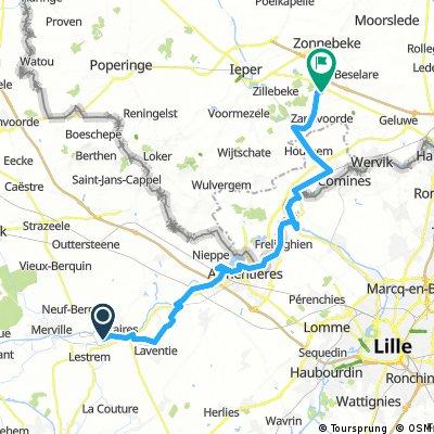 Rita: La Gorgue - Ieper met stop in Armentières
