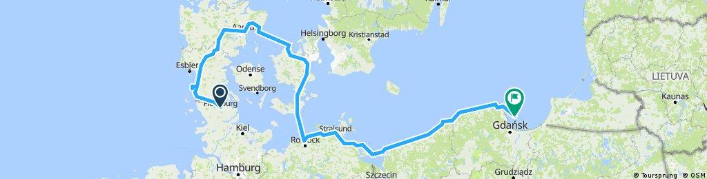 Flensburg (DE)  - Danmark - Gdansk (PL)