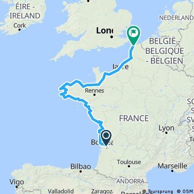 Bordeaux nach Calais