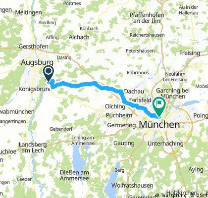 von Kissing nach München