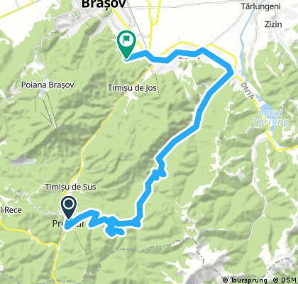 Long bike tour from Predeal to Braşov