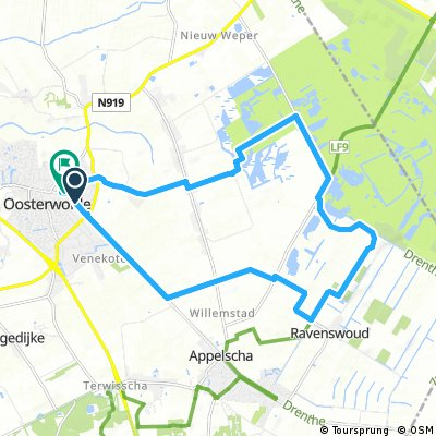 ride through Oosterwolde