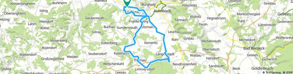 Über die alte Bahnlinie nach Neuenreuth und durchs Rotmaintal zurück