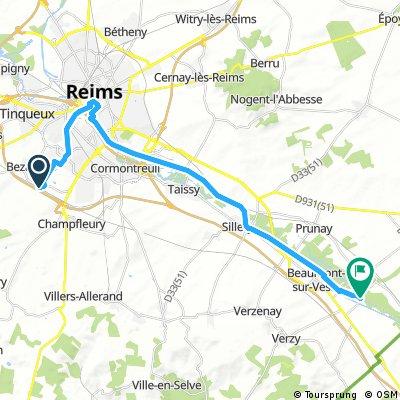 Etappe: Reims - 1. Camping