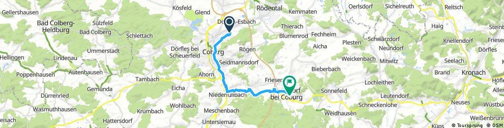 Radrunde von Coburg nach Ebersdorf bei Coburg
