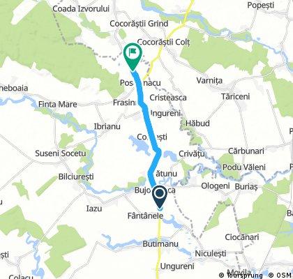 bike tour through Postârnacu
