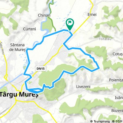 MTB Ernei - Mures - Platoul Cornesti - Varful Terebics - Tofalau - Ernei