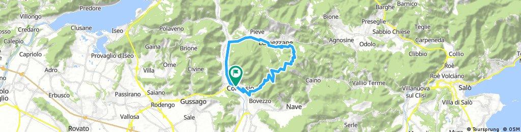 bike tour through Concesio
