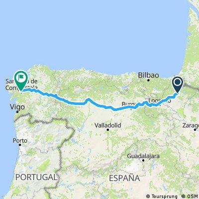 Pamplona to Santiago
