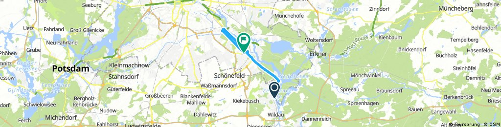 ride from Zeuthen to Berlin