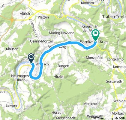 Etappe 3 Piesport - Bernkastel Kues